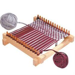 Buy Pot Holder Wooden Weaving Frame Loom 29x29cm with Recycled Cotton T-shirt Yarn in AU Australia.