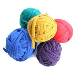 Buy Recycled Cotton T-Shirt Yarn 5 x 25mtrs Primary Colours in AU Australia.
