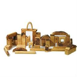 Buy AMS Natural Wooden Block Set - 37 Large Pieces in AU Australia.