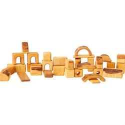 Buy AMS Natural Wooden Block Set - 34 Small Pieces DO in AU Australia.