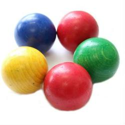 Buy Wooden Marbles 5 pkt - extra large coloured in AU Australia.