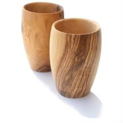 Buy Olive Wood Barrel Shaped Cup in AU Australia.