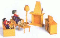 Buy Drei Blatter Wooden Doll House Furniture - Lounge set 7pcs in AU Australia.