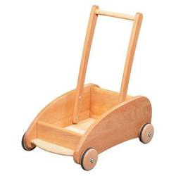 Buy Verneuer Wooden Pram Trolley Walker Cart w Lockable Wheels in AU Australia.