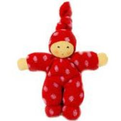 Buy Nanchen Organic Polka Dot Doll red/pink 17cm in AU Australia.