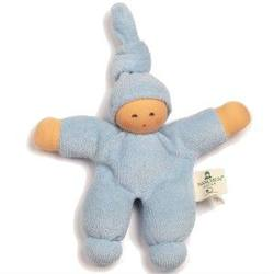 Buy Nanchen Organic Soft Doll with Knotted Hat Light Blue 17cm in AU Australia.