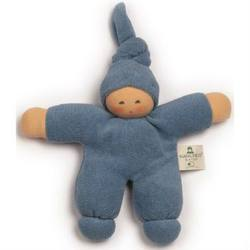 Buy Nanchen Organic Soft Doll with Knotted Hat Blue 17cm in AU Australia.