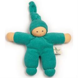 Buy Nanchen Organic Soft Doll with Knotted Hat Turquoise 17cm in AU Australia.