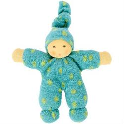 Buy Nanchen Organic Polka Dot Doll Turquoise/Green 20cm in AU Australia.