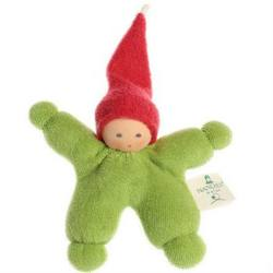 Buy Nanchen Organic Gnome Doll Green with Red Cap 11cm in AU Australia.