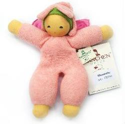 Buy Nanchen Organic Flower Fairy Doll with Silk Wings and Rattle pink 18cm in AU Australia.