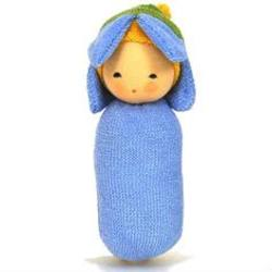 Buy Nanchen Organic Blossom Rattle Doll Forget-me-not 15cm in AU Australia.