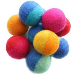 Buy Felt Ball - Twin Coloured 7cm-100% Wool in AU Australia.