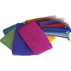 Buy Felt Pencil Case w Zip-100% Wool Small 12x21cm in AU Australia.