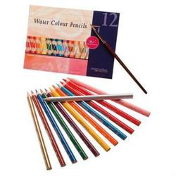 Buy AMS Triangular Watercolour Pencil - 12 asst colours in cardboard sleeve in AU Australia.