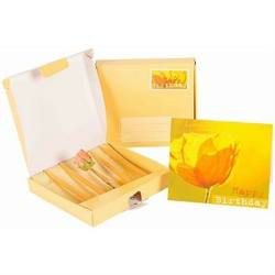 Buy Dipam Happy Birthday Gift Box w 4 mini taper candles +  greeting card in birthday postage gift box LG3 in AU Australia.