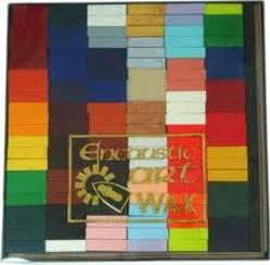 Buy Encaustic Hot Wax Art Blocks - Single Colour 16 Blocks in AU Australia.