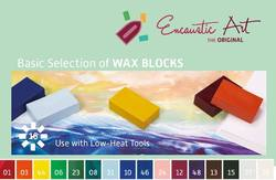Buy Encaustic Hot Wax Art Blocks 16 Assorted Basic Selection in AU Australia.