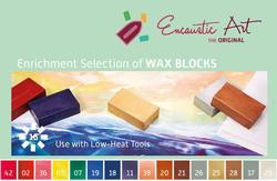 Buy Encaustic Hot Wax Art Blocks Assorted Enrichment Selection in AU Australia.