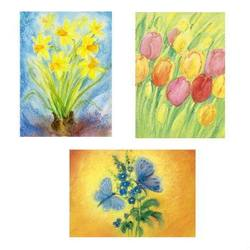 Buy Postcards - Assorted 5 Card Pack - Flowers in AU Australia.